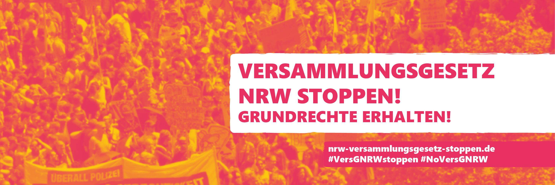 Facebook Headerbild: Versammlungsgesetz NRW stoppen